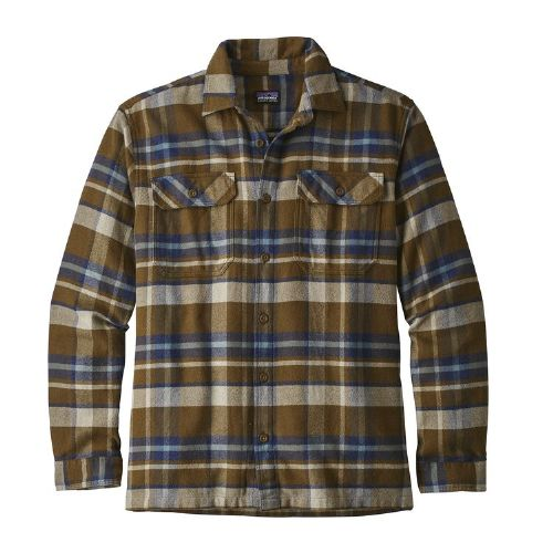 Patagonia Men's Long Sleeved Fjord Flannel Shirt (Sediment)